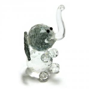 C.T.F. Elefante Cristallo/Glitter Cm.6X4 Articoli Regalo Oggettistica