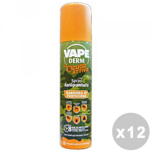 VAPE Set 12 Spray Secco Invisibile Antipuntura 100 Ml. Articoli Per Insetti