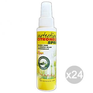 Set 24 CITRONELLA Protection Spray 90 Ml Insetticida Repellente Insetti
