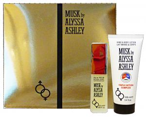 ALYSSA ASHLEY Confezione regalo musk edp 25 ml+lozione 100 ml. triple compl