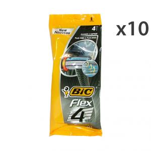 Set 10 BIC FLEX 4LAME R&G X 4 Pezzi Prodotti per rasatura
