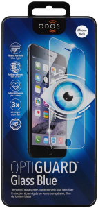 QDOS OptiGuard Blue Schield Japanese Tempered Glass Screen Protector for iPhone