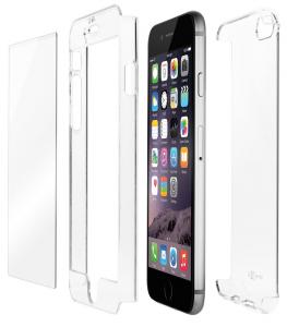 QDOS Crystal cover completa con Vetro Protezione per schermo per iPhone 6s Plus / 6