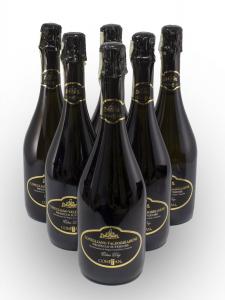 Conf 6 Bott Prosecco Superiore DOCG Conegliano Valdobbiadene Vino Spumante 75 cl