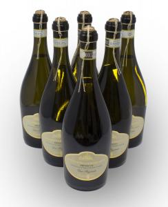 Conf 6 Bott Prosecco Conegliano Valdobbiadene Vino Bianco Frizzante DOCG 75 cl