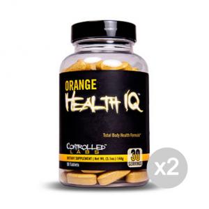 Set 2 CONTROLLED LABS Orange Health IQ Formato: 90 Tablets Integratori sportivi