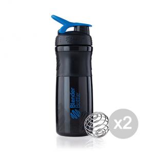 Set 2 BLENDERBOTTLE SportMixer® - Nero/Blu Formato: 760 ml Integratori sportivi