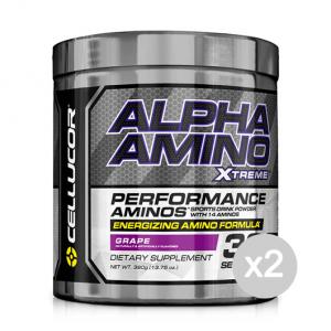 Set 2 CELLUCOR Alpha Amino Xtreme gusto: Anguria Formato: 390 g. Integratori sportivi