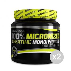 Set 2 BIOTECH 100% Micronized Creatine Monohydrate Formato: 300 g. Integratori