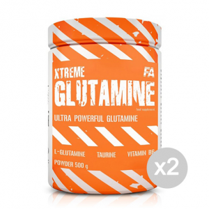 Set 2 FITNESS AUTHORITY Xtreme Glutamine Formato: 500 g. Integratori sportivi