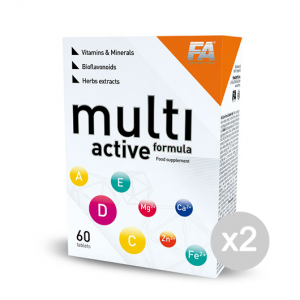 Set 2 FITNESS AUTHORITY Multi Active Formula Formato: 60 Tablets Integratori sportivi