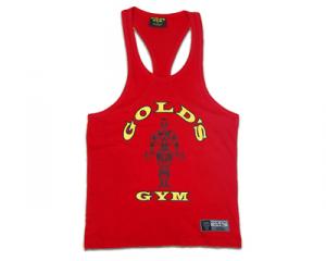 GOLDS GYM Sleeveless T-Shirt Rot Größe L Sportbekleidung und Fitness-Zubehör