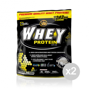 Set 2 ALL STARS Lactosérum saveur de protéines: vanille: 500 g. suppléments sportifs