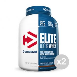 Set 2 DYMATIZE Elite 100% Whey Protein gusto: Fragola Formato: 2100g Integratori