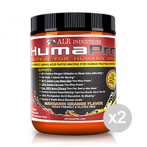 Set 2 ALR Humapro 90 servings flavour: Mandarin Orange Size: 667 g Supplements