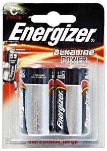 ENERGIZER Alkaline C 2 Pezzi Pile E Batterie