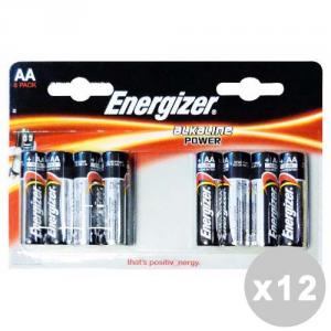 ENERGIZER Set 12 ENERGIZER Power aa stilo * 8 pz. - pile e torce