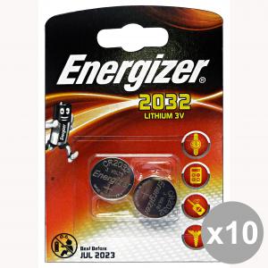Set 10 ENERGIZER 3V 2032 Pila X 2 Pezzi LITHIUM Elettricità