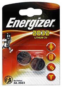 ENERGIZER 3V 2032 Pila X 2 Pezzi LITHIUM Elettricità