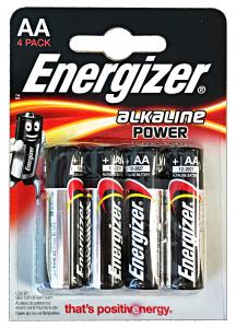 ENERGIZER Alkaline Aa Stilo 4 Pezzi Pile E Batterie