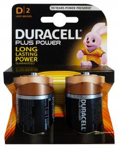 DURACELL Dplus X 2 pz. - Pile e torce