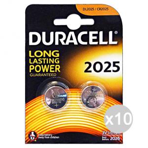Set 10 DURACELL Specialistiche 2025 3 Volt 2 Pezzi Lithium Pile E Batterie