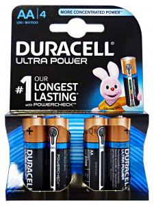 DURACELL Ultra power aa stilo * 4 pz. - pile e torce