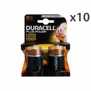 Set 10 DURACELL D Plus X 2 Pezzi Elettricità