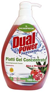 DUAL POWER Piatti Concentrato 1Lt. Aloe-Melograno Detergenti Casa