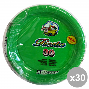 Set 20 ARISTEA piatti colorato piani 30 pezzi verde art.165205 piatti