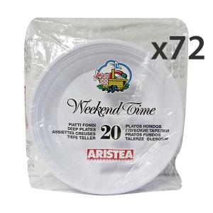 ARISTEA Set 72 Piatti FONDI X 20 Pezzi Piatti