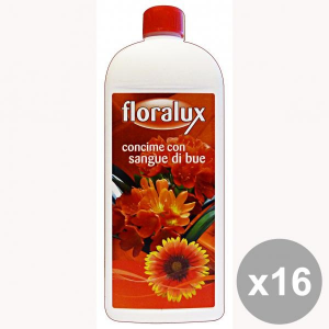 Set 16 FLORALUX Concentrato Liquido Sangue Di BUE 1 KG. Detergenti casa