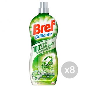 Set 8 BREF Pavimenti Fresh Vitality 1250 Ml Detersivo Detergente Pulizia Della Casa
