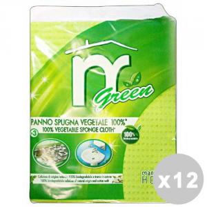 MARTINI Set 12 MARTINI Éponge en tissu Green * 3 Pièces - éponges Cuisine
