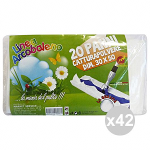 Set 42 ARCOBALENO Panni Polvere 30x50 X 20 Pezzi Attrezzi Pulizie