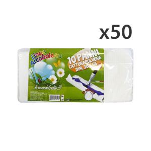 Set 50 ARCOBALENO Panni Polvere 30x65 X 10 Pezzi Attrezzi Pulizie