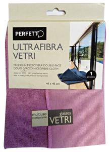 PERFETTO Panno Vetri Ultrafibra 40x40 0319A Attrezzi Pulizie