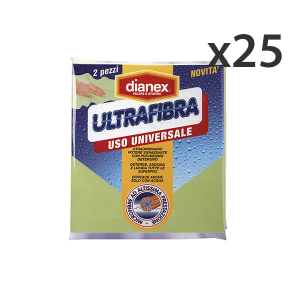 Set 25 DIANEX Panni Ultrafibra X 2 Pezzi Attrezzi Pulizie