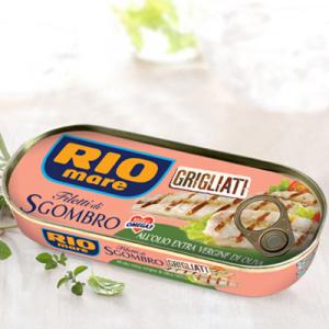 RIO MARE Filetti Di Sgombro Grigliati In Olio Extra Vergine D'Oliva Grammi 120