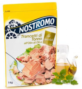 NOSTROMO Trancetti Di Tonno In Olio D'Oliva Busta Kg.1 Condimento - Made In Italy