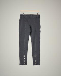 Jeans grigio con bottoni S-XL