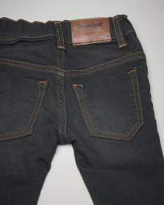 Jeans nero elasticizzato con sabbiature 6-18 mesi