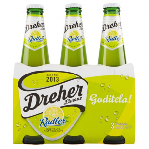 BIRRA DREHER Radler Al Limone Confezione Da 3 Bottiglie Di Vetro Da 33 Cl Ciascuna