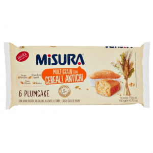 MISURA Plumcake Cereali Antichi Confezione Da 190 Grammi 6 Plumcake Snack Dolce
