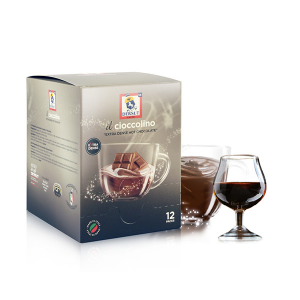 Dersut Cioccolino Prêt à boire - Rum Chocolate 12 Bust. - 25 G Made in Italy