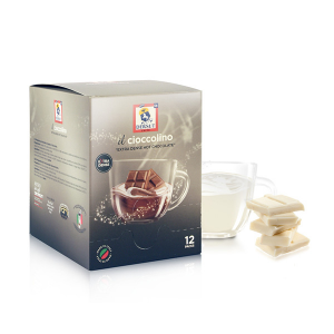 Dersut Cioccolino Ready To Drink - White Chocolate 12 Bust. - 25 G Made in Italy