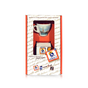 Dersut Paquet mélange spécial de café moulu Sp 125 G + 1 tasse de Venise Surprise Made in Italy