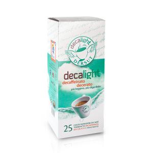 DERSUT Cialde Di Caffè Decerato Decaffeinato Decalight 25 Cialde - 7 G Made in Italy