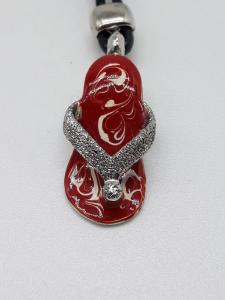 Portachiavi in argento a forma di ciabatta infradito vendita on line | BRUNI GIOIELLERIA