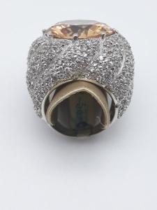 Anello donna in argento con quarzo e zirconi vendita on line   BRUNI GIOIELLERIA